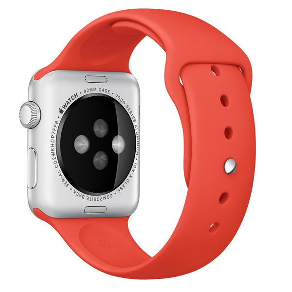 Apple watch band, Orange Decouart Soft Silicone Replacement Sport Band for 42mm 38mm - Decouart
