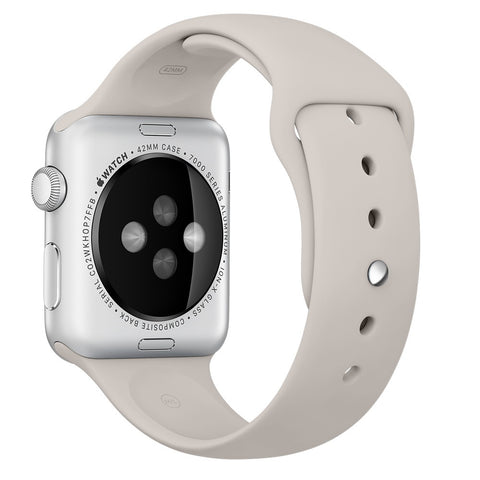 Apple watch band, Stone Decouart Soft Silicone Replacement Sport Band for 42mm 38mm - Decouart - 1