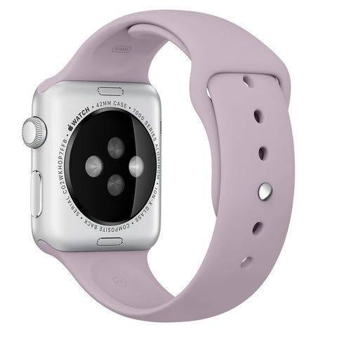 Apple watch band, Lavender Decouart Soft Silicone Replacement Sport Band for 42mm 38mm - Decouart