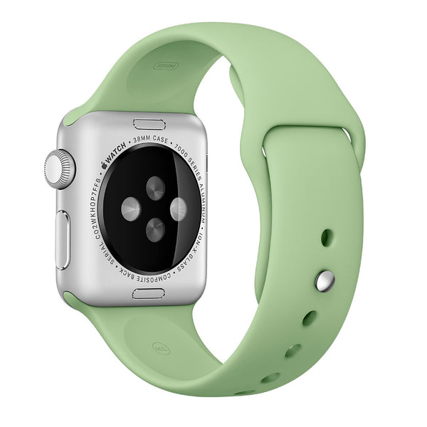 Apple watch band, Mint Decouart Soft Silicone Replacement Sport Band for 42mm 38mm - Decouart
