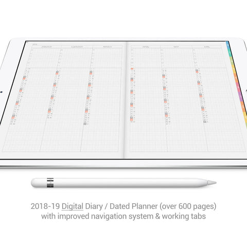 Digital Planner for GoodNotes 2018-19 - Grey - Decouart