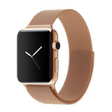 Apple watch band, Decouart Milanese loop Stainless Steel Gold Bracelet for 42mm 38mm - Decouart - 3