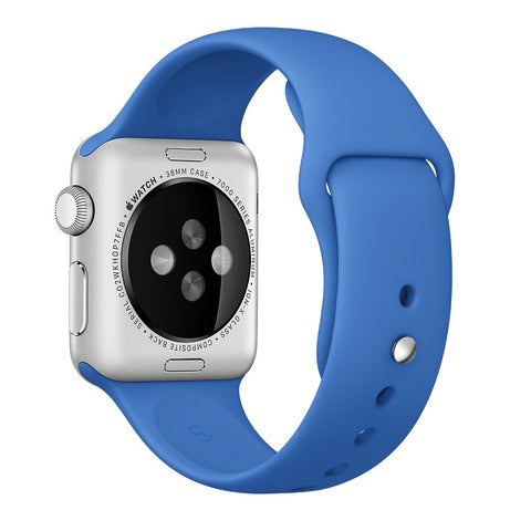 Apple watch band, Royal Blue Decouart Soft Silicone Replacement Sport Band for 42mm 38mm - Decouart