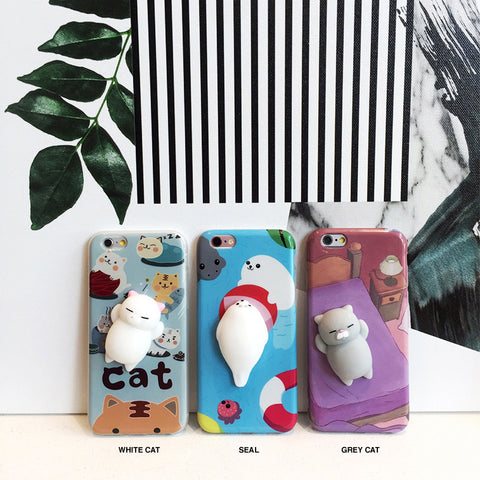 Cute squishy 3D animal iPhone case - Decouart