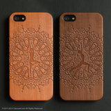 Yoga wood engraved  iPhone 5 / 5s / 6 / 6s / 6 Plus / 6s Plus / 7 / 7 Plus case - Decouart - 1