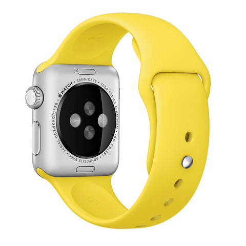 Apple watch band, Yellow Decouart Soft Silicone Replacement Sport Band for 42mm 38mm - Decouart - 1