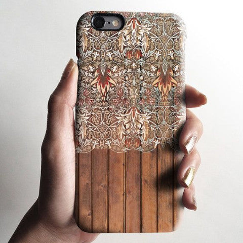 Floral wood iPhone case S573 - Decouart