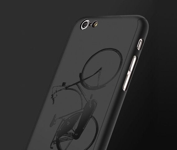 Bike full protection iPhone black case |【360°全面保護強化ガラスフィルム付き】iPhone 7 / 7+ / SE / 6s / 6s+ /5s ケース bike - Decouart