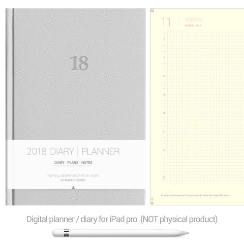 Digital Planner / Diary for GoodNotes - Grey - Decouart