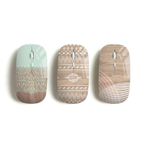 Aztec wireless mouse, mint lace, navajo, geometric - Decouart - 1