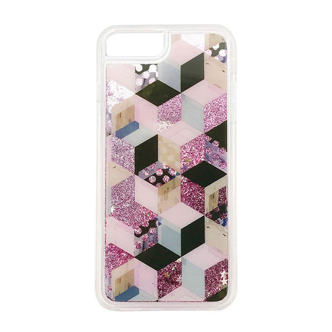 Geometric Glitter waterfall iPhone case - Decouart