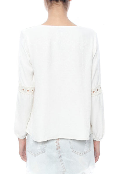 LIV Peasant Top W/Lace