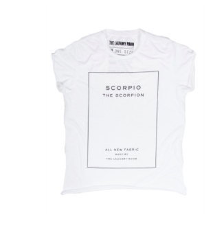 The Laundry Room Scorpio Label Rolling Tee