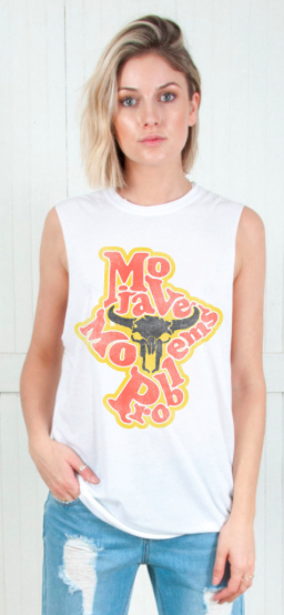 The Laundry Room Mo Problems Skull Muscle Tee