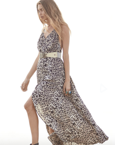 Auguste Backless Splash Maxi Dress
