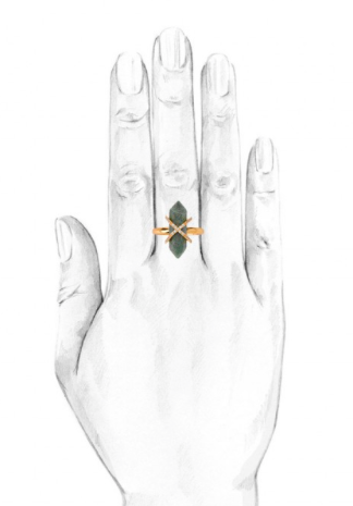 Samantha Wills Parisian Dusk Ring African Jade/Gold