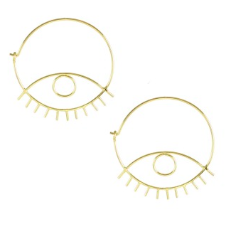 Kris Nations Third Eye Hoops