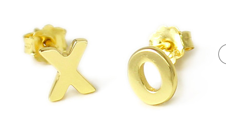Kris Nations XO Earrings- Gold