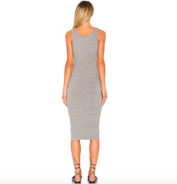 Enza Costa Ribbed Midi Tank Dress