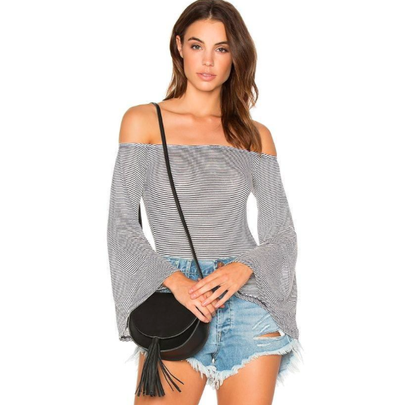 NYTT Off Shoulder Stripe BodySuit