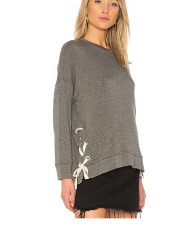 Sen Inata Lace Up Sweat Shirt