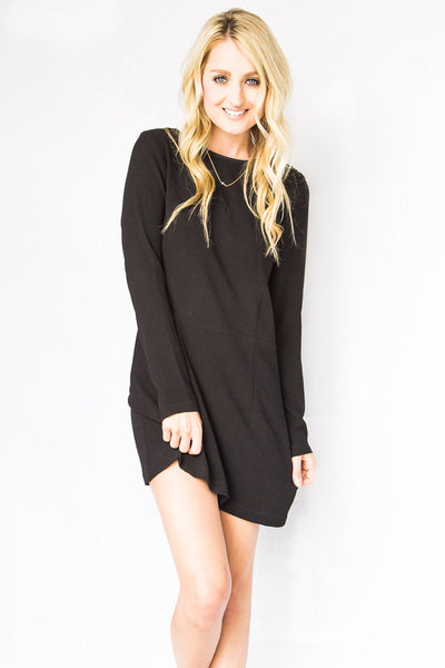 Pfieffer Cutout Back Black Dress