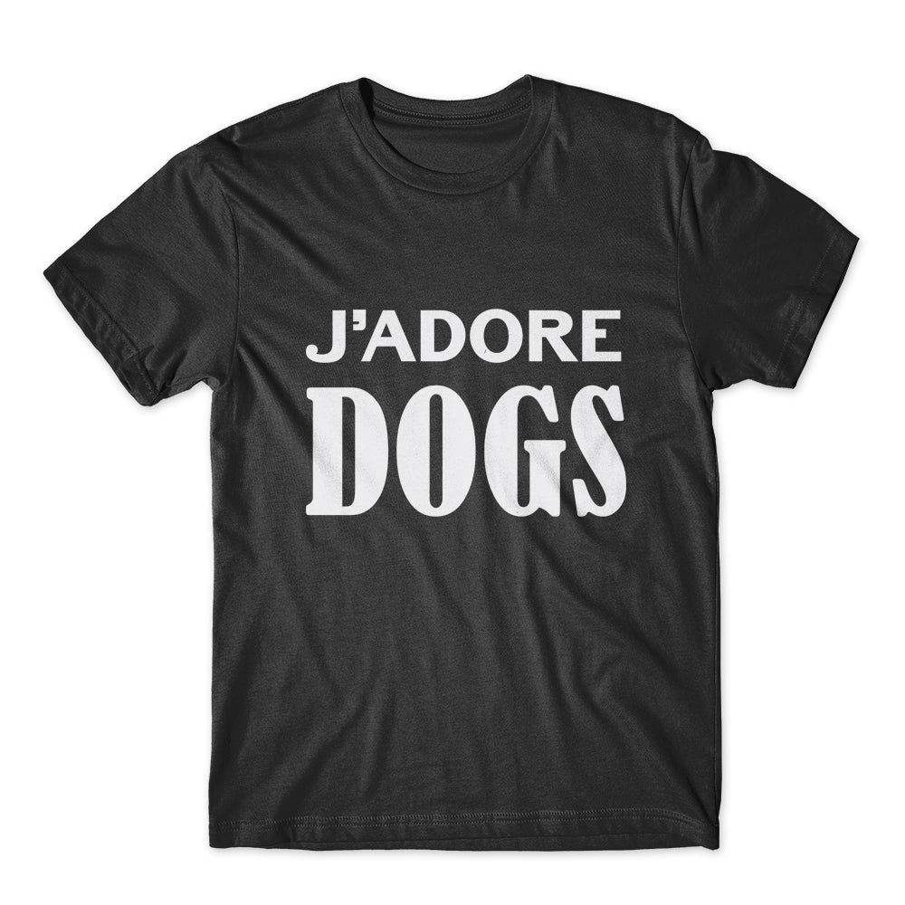 J'adore Dogs T-Shirt 100% Cotton Premium Tee