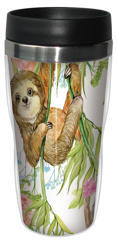 Sloth 16 Ounce Travel Mug