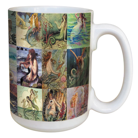 Mermaids Coffee Mug Large 15 Ounce Ceramic Mug