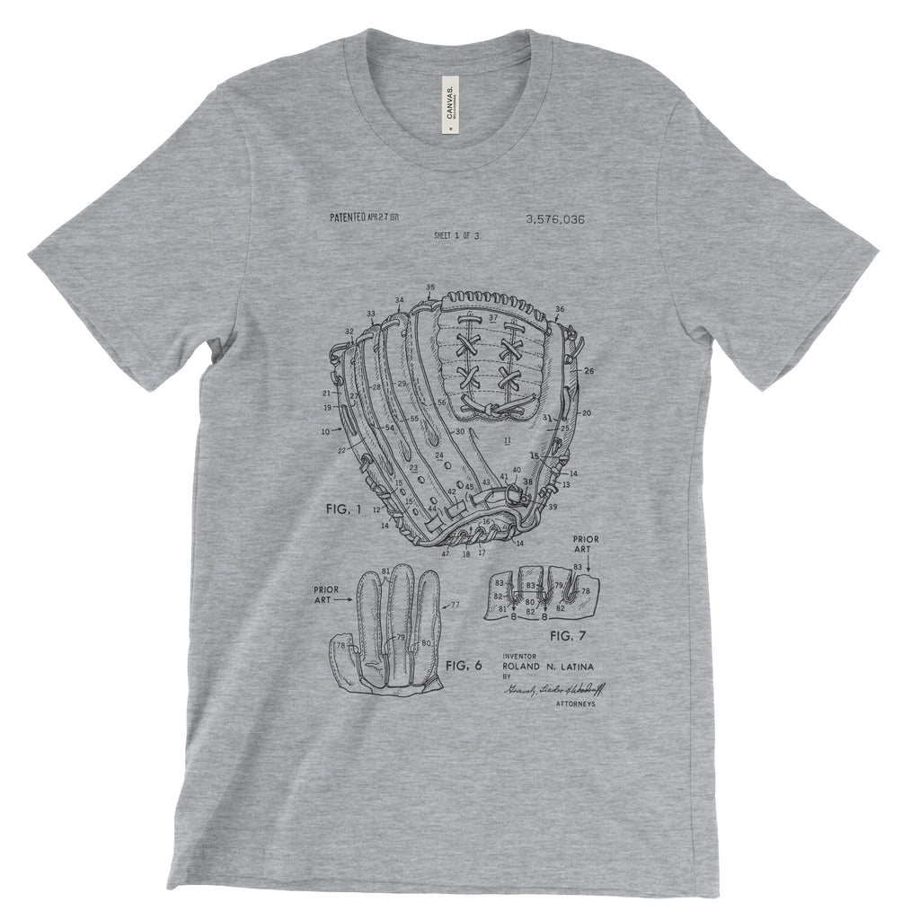 Baseball Glove Patent T-Shirt Soft Cotton - Mighty Circus