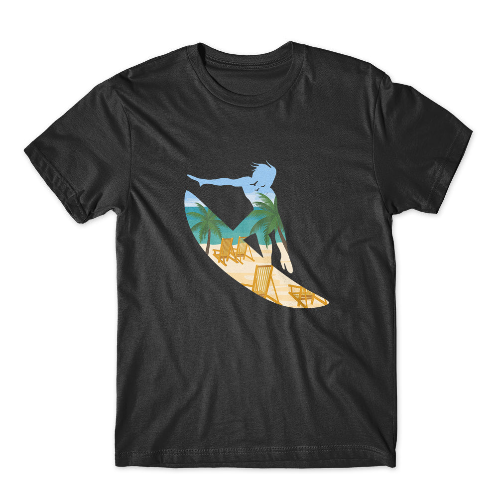 Beach Surfing T-Shirt 100% Cotton Premium Tee NEW