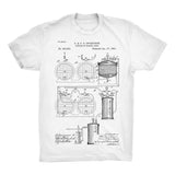 Beer Patent Half Sleeve Cotton T-Shirt