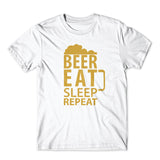 Beer Eat Sleep T-Shirt 100% Cotton Premium Tee