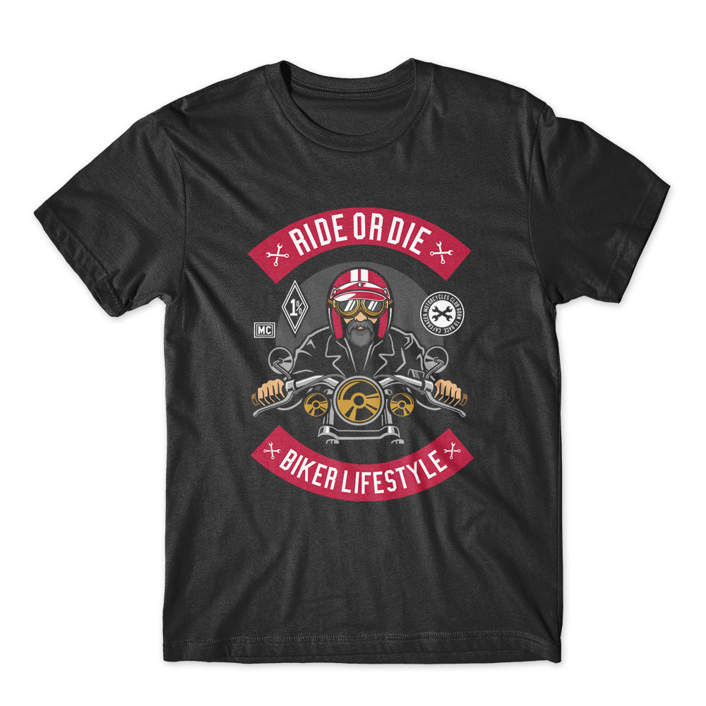 Ride Or Die Biker LifeStyle T-Shirt 100% Cotton Premium Tee NEW