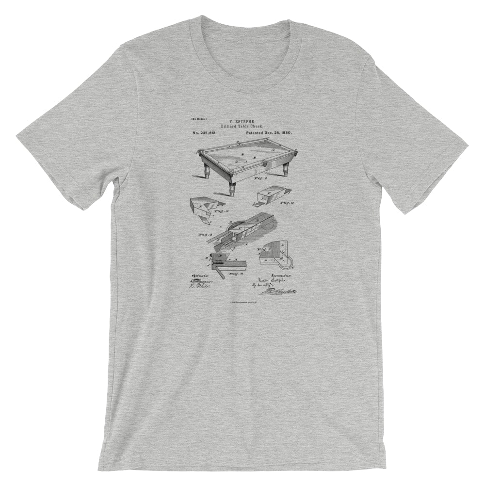 Billiards Table Patent T-Shirt - Mighty Circus