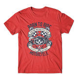 Born To Ride Motorcycle T-Shirt 100% Cotton Premium Tee NEW