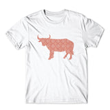 Stylish Ornament Bull Printed T-Shirt 100% Cotton Premium Tee NEW