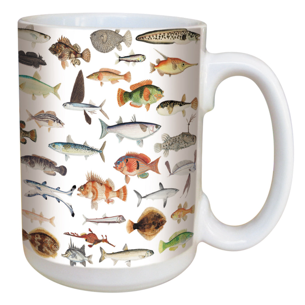 Fish Coffee Mug Large 15 Ounce Ceramic Mug