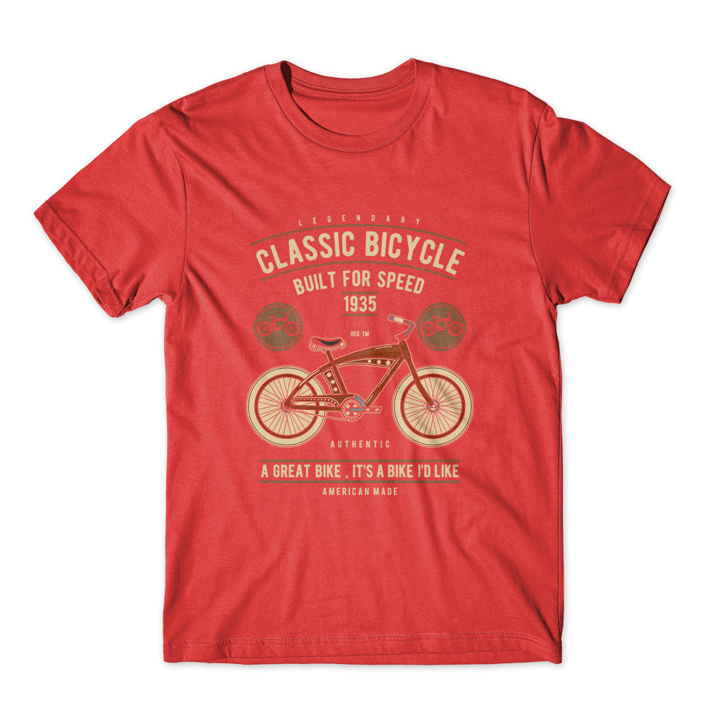 Classic Authentic Bicycle T-Shirt 100% Cotton Premium Tee NEW