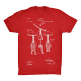 Corkscrew Patent 100% Cotton Premium T-Shirt