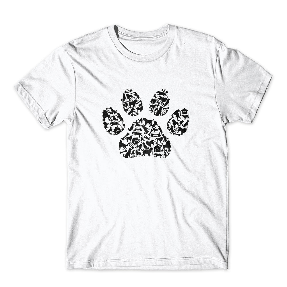 Dogs Paw Symbol T-Shirt 100% Cotton Premium Tee NEW