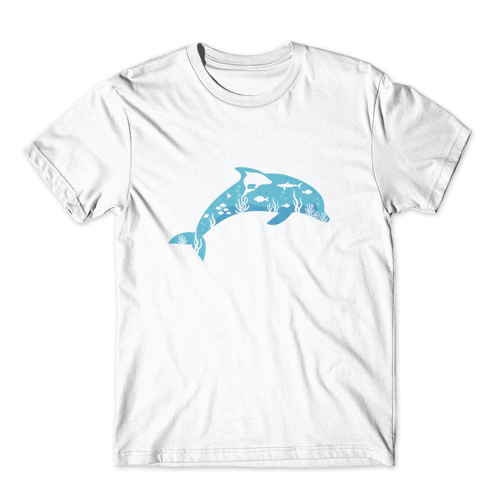 Sea Dolphin T-Shirt 100% Cotton Premium Tee NEW