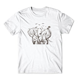 Elephant in Tree Birds T-Shirt 100% Cotton Premium Tee NEW
