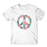 Flamingo Peace T-Shirt 100% Cotton Premium Tee NEW