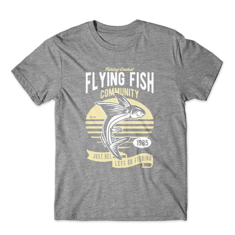 Flying Fish T-Shirt 100% Cotton Premium Tee NEW
