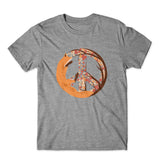 Fox Peace T-Shirt 100% Cotton Premium Tee NEW