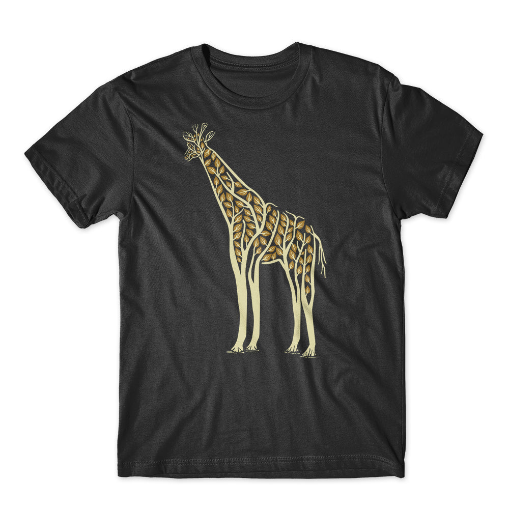 Giraffe Tree Leave Ornament T-Shirt 100% Cotton Premium Tee NEW