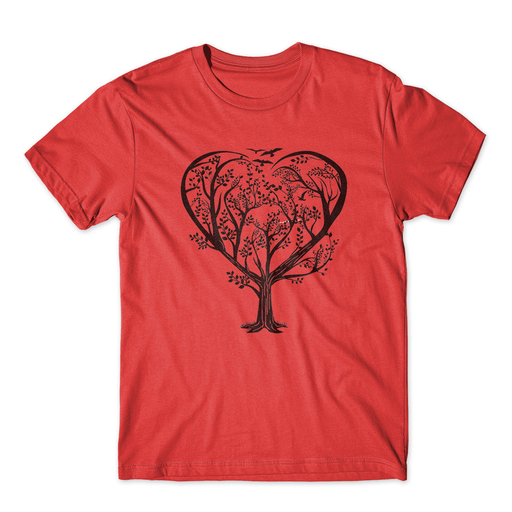 Heart Life Forest Tree T-Shirt 100% Cotton Premium Tee NEW
