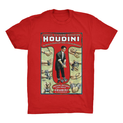 Houdini Poster Print T-Shirt - Mighty Circus