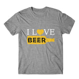 I Love Beer T-Shirt 100% Cotton Premium Tee